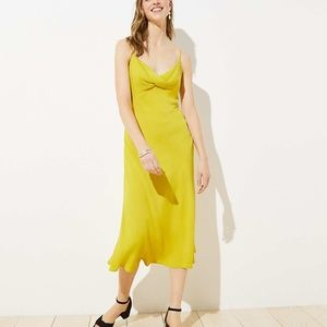 LOFT Women's NWT Twist Midi Slip Dress